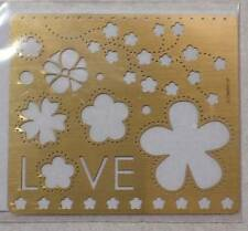 Stampin' Up! Classy Brass Template - FLORAL FRENZY - BRAND New Embossing STENCIL