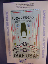 1/48  SUPER SCALE DECALS 48-955 F-86D 93rd FIS WHITE & RED LIGHTNING BOLTS