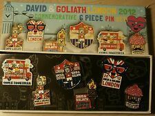 David & Goliath London 2012 Olympic Sponsor Pin Commemorative 6 Piece Set New