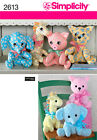 SEWING PATTERN SIMPLICITY 2613 TWO PATTERN PRICE ANIMALS ONE SIZE A