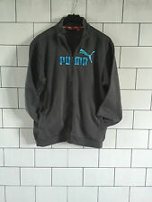 URBAN VINTAGE RETRO OVERSIZED PUMA SWEATSHIRT SWEATER JUMPER ZIP UP JACKET 34/36