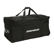"Sherwood SL700 hockey goalie 38""equipment  bag black 3 wheeled new junior wheels"