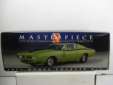 1/25 SCALE AMT MASTERPIECE GREEN 1971 DODGE CHARGER R / T COA INCLUDED