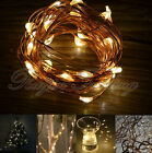 String Fairy Light 20/30/40/50 LED Battery Operated Xmas Lights Party Wedding