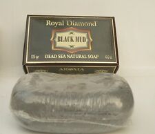 DEAD SEA Black Mud SOAP Bar, Natural Salts Minerals Rich Face&Body Healthy Skin