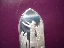 LEVITICUS ORDINATION AARON & SONS BIBLE 1975 VINTAGE SILVER TABLET BAR CARDED