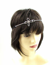 Silver Diamante Headband 1920s Vintage Flapper Great Gatsby Headpiece Hair 750