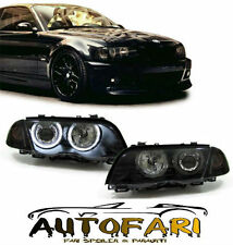 FARI ANTERIORI BMW E46 98-01 SERIE 3 BERLINA TOURING NERI CCFL ANGEL EYES