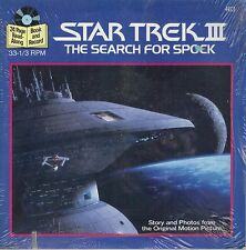 STAR TREK III  The Search For Spock  rare book and record set  STILL SEALED!!!
