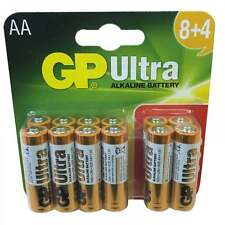 UKDJ 12 x AA Batteries GP Ultra Alkaline Power High Powered 15AU 1.5V LR6 BNIB