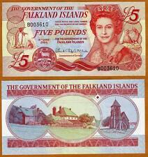 Falkland Islands, 5 pounds, 2005, QEII, P-17 CV-$48 UNC