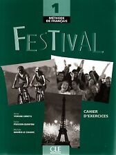 CLE Int'l FESTIVAL 1 Methode de Francais CAHIER D'EXERCICES + CD @NEW@ French
