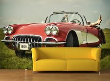 Vintage car 3D Mural Photo Wallpaper Decor Large Paper Wall
