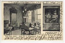 """AK Berlin, Krebs Hotel """"Union"""", Schreibzimmer, Wandgemälde"""