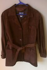MLC For SAKS 5TH AVE Brown Leather Jacket Women's Size Small Made in Canada
