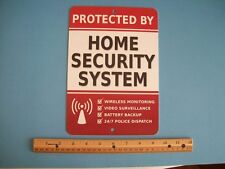 "Home Security Alarm System 7"" x 10""  Metal Yard Sign - Stock # 703"