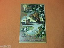 Postcard ~ Christmas 1909 with Stamp ~ Norfolk VA ~ Moores NY  ~ USED