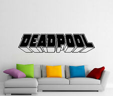 Deadpool Word Logo Wall Decal Superheroes Vinyl Sticker Comics Art Decor 433z