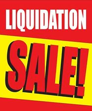 "LIQUIDATION SALE 18""x24"" STORE BUSINESS RETAIL DISCOUNT PROMOTION SIGNS"