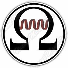 OHM Sign Vape Vaping E-cigarette Atomizer Car Bumper Vinyl Sticker Decal 4.6""