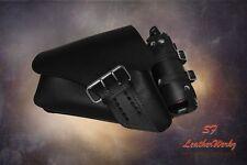 LaRosa 04UP HD Sportster Left Side Saddle Bag LA FONDINA - Black w Bottle Holder