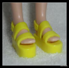 SHOES  CURVY TALL BARBIE DOLL FASHIONISTA BRIGHT YELLOW SANDALS FLATS SHOE 2476