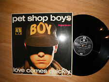 "PET SHOP BOYS LOVE COME QUICKLY RARE ORIG VERSION 12"" GERMAN PRESS1986"