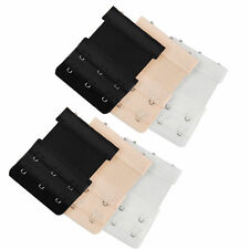 6 Pcs 3 Hooks Bra Extender Extension Extenders Ladies Strap Underwear Strapless