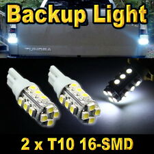 2x Super White Led Backup Reverse Lights 16-SMD 921 912 T10