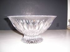 "Mikasa Meridian 10"" Lead Crystal Footed  Bowl NWOT No Box"