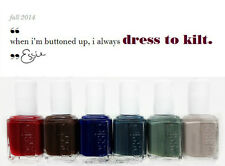 ESSIE Nail Lacquer- DRESS TO KILT Fall 2014 - All 6 Shades - 877 - 882