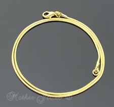 40CM THIN 1MM 18K YELLOW GOLD GP SNAKE CHAIN LADIES MENS GIRLS BOYS NECKLACE