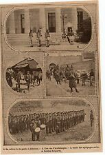 IMAGE 1912 PRINT ANDRINOPLE RELEVE GARDE GREC ATHENES SOLDAT BULGARE