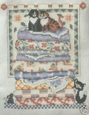 Leisure Arts Cross Stitch Revista de octubre de 1995 Inc Cats Meow Edredón 22 proyectos