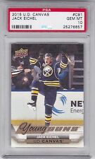 PSA 10 GEM MINT JACK EICHEL 2015-16 UPPER DECK 1 YOUNG GUNS CANVAS RC #C91