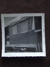 BIKE IN FRONT OF MOBILE TRAILER HOME 1963 ABSTRACT PHOTO