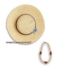 American Girl JULIE BIRTHDAY DRESS 2 PC HAT & NECKLACE ONLY for Doll Julie's NEW