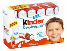 Ferrero Kinder Chocolate Schokolade - 24 bars box -  Milk Chocolate - 300g