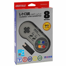 Buffalo Super Nintendo Turbo SNES Retro Classic USB Controller for PC Windows
