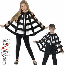 Child Spider Cape Boys Girls Web Fancy Dress Halloween Costume Incy Outfit New