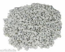 1kg White marble gravel Garden Home Decor Marble Chips pebbles wooden table