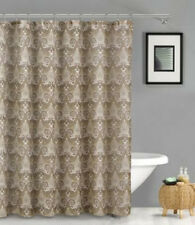 Duck River Textiles French Riviera Linen Look Shower Curtain, Taupe