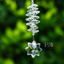 Crystal Clear Octagonal Star Prisms Suncatcher Pendant Home Window Decor Gift