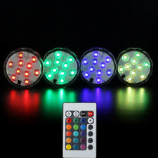Colorful 10 LED RGB Light Party Vase Decor Underwater Remote Control Lamp