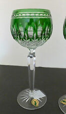 Waterford crystal clarendon vert émeraude hock verres x2 neuf mint in box