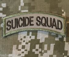 SUICIDE SQUAD ARMY TAB ROCKER TACTICAL USA MILITARY MORALE DESERT VELCRO PATCH