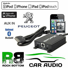 Peugeot 206 SW/CC 1998 On Car Radio AUX IN iPod iPhone Bluetooth Interface Cable