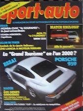 revue SPORT AUTO 1986  PORSCHE 911 944 TURBO CUP + 959 / ALFA ROMEO 75 V6  n°292