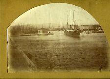 PHOTO HEYST en 1893 Belgique Heist le port bateau navire portuaire maritime