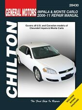 2006 2007 2008 2009 2010 2011 Chevrolet Impala Monte Carlo Repair Manual 0476